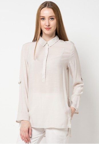 TRISET Ladies white Long Sleeve Blouse 158 TR970AA95ZQQID_1
