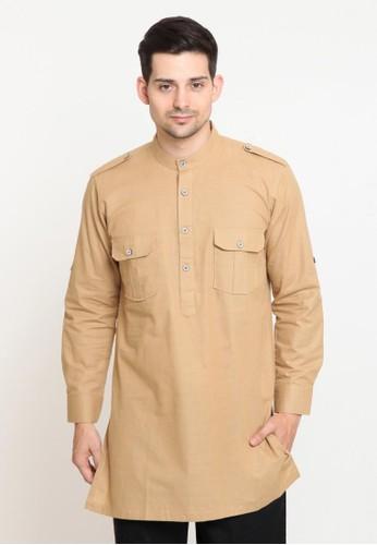 ZAYIDAN beige Baju Koko Pria Muslim Zayidan Qoshim - Cream 2BB00AA64A4575GS_1