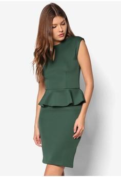 Keyhole Peplum Dress