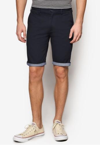 撞色褲腳百慕達短褲,esprit 衣服 服飾, 短褲