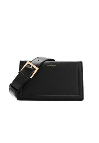 Volkswagen black Faux Leather Sling Bag A87FDACA813B47GS_1