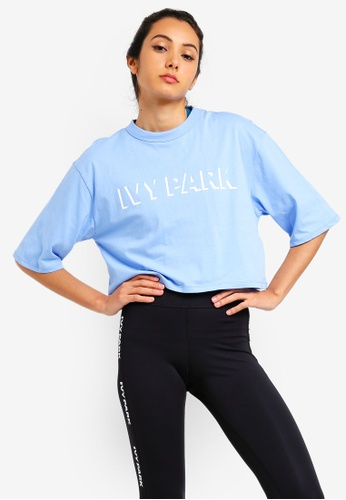 c96f6ebb94b10 Buy Ivy Park Logo Crop Short Sleeve Tee Online on ZALORA Singapore