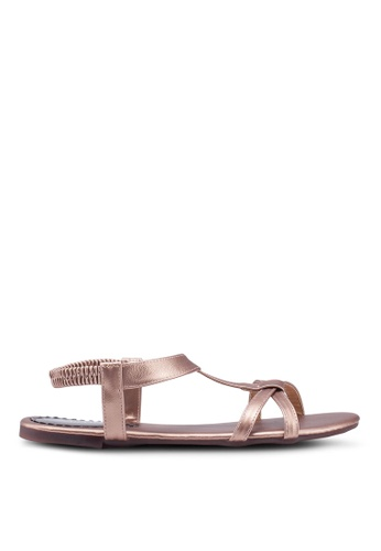 Mimosa gold Criss-Cross Strappy Sandals F5C99SH333FD59GS_1