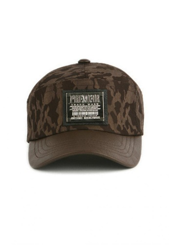 M-Wanted brown M. Baseball Cap in Camouflage MW173AC41BLMSG_1