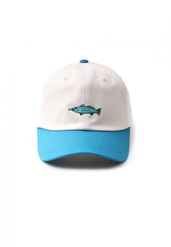 M-Wanted white M. I Love Fish Baseball Cap MW173AC55LGQSG_1