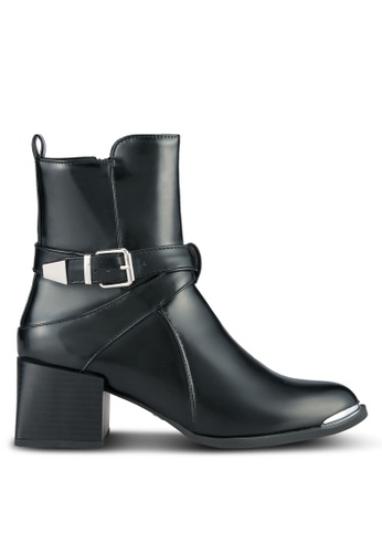 LOST INK black Devon Jodphur Sleek Boots LO238SH0SCMFMY_1