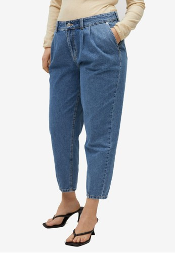 Violeta by MANGO blue Mid-Rise Slouchy Jeans 28F2EAA72DC70EGS_1