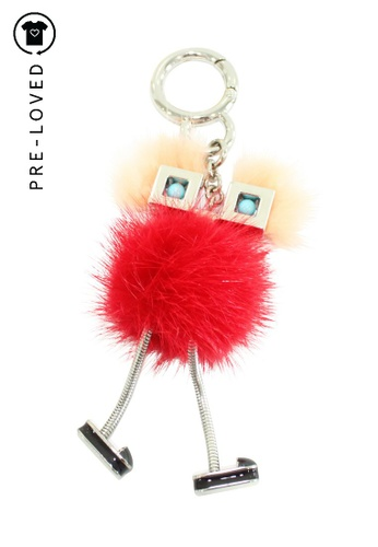 FENDI red Pre-Loved fendi Red Hypneteyes Bag Charm 5DC02AC57FB621GS_1
