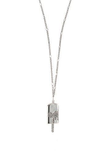 "Guess silver 32"" Pave Icepop Charm Long Necklace F4B6CAC3C1D1F6GS_1"