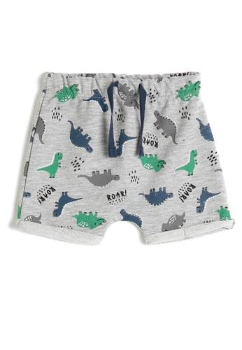 KOTON grey Casual Baby Shorts A321EKA7AE1436GS_1
