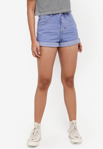 Factorie blue Mom Shorts BDCC0AAAF12551GS_1