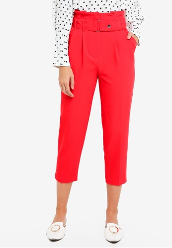 TOPSHOP red Tapered Trousers D2C58AA6DC6817GS_1