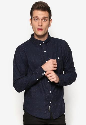 Contrast Fleckeesprit官網d Textured Shirt, 韓系時尚, 梳妝