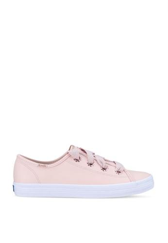 Keds pink Kickstart Daisy Eyelet Leather Sneakers 04BB5SH5C8D431GS_1