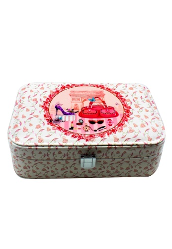 Venice Jewelry pink Fashionable Printed Jewelry Box JBPS-VF-03 VE564AC71RXOPH_1
