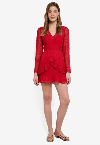 The Fifth Label red Rhythm Long Sleeve Dress 4CB0EAA2AC7C67GS_1
