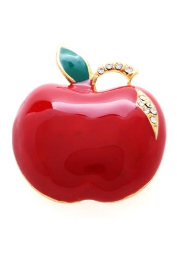 1901 Jewelry red 1901 Jewelry Merah Apple Brooch 19910AC72EXBID_1