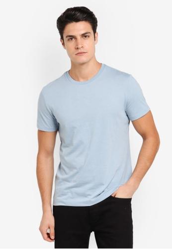 Burton Menswear London blue Blue Fog Crew Neck T-Shirt BU964AA0T1H5MY_1