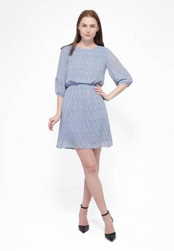 Nicole Exclusives blue Nicole Exclusives - Knee Length Dress 0B430AA87B94ECGS_1