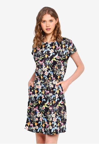 Vero Moda black Lily-Rose Short Sleeve Short Dress DB918AA7836472GS_1