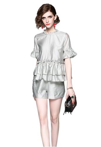 Sunnydaysweety 2017 S/S New Elegant Short Sleeves Jumpsuit CA061423GY SU219AA06DHTSG_1