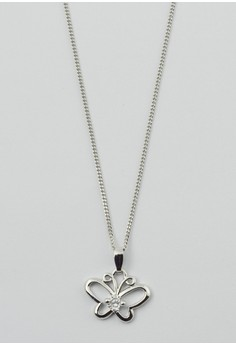 Butterfly and Cubic Zirconia Necklace