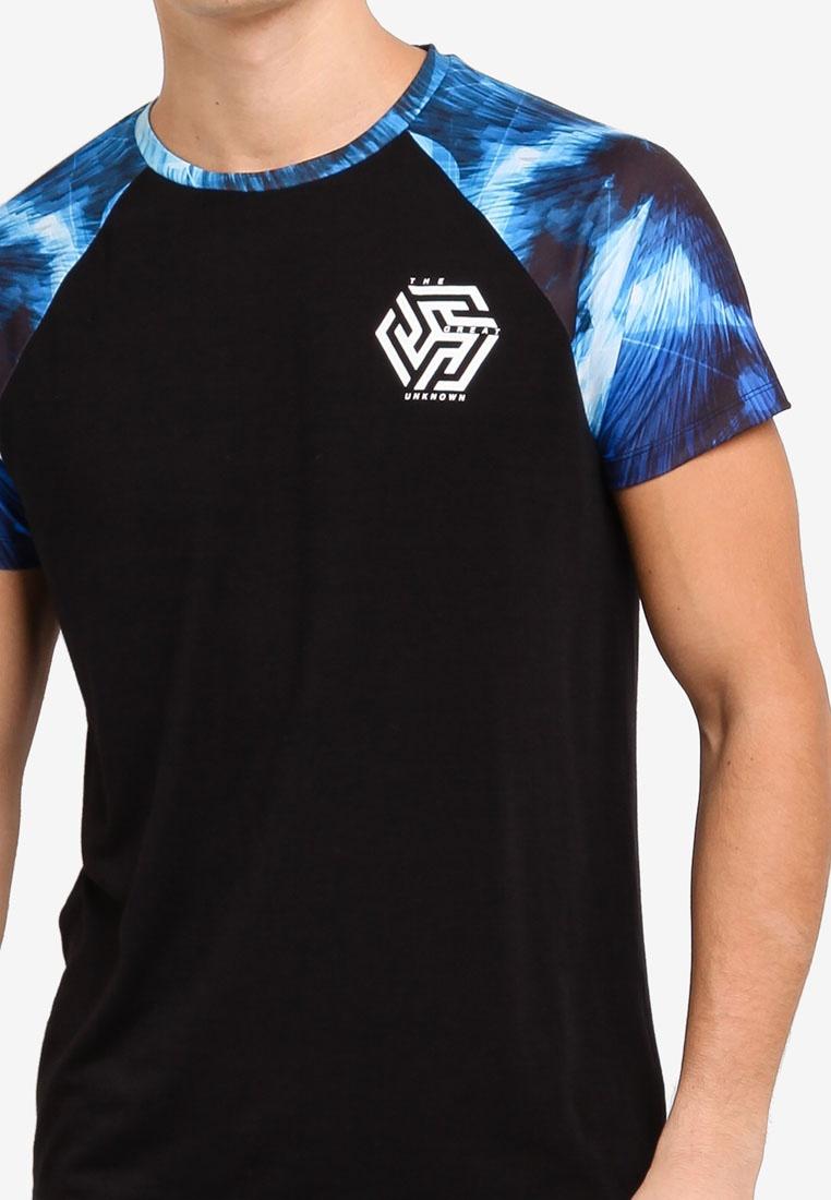 Burton Shirt Blue Marble T Mid Menswear Blue London Print Raglan xXqnIa