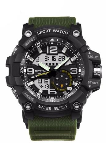 SANDA green SANDA 759 G Style Military Waterproof Outdoor Sports Men's Shockproof Digital Watch (Black Green) SA708AC0RXEMMY_1