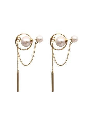 Sunnydaysweety gold Circle chain long Earrings CA060309 9640AAC931CF32GS_1