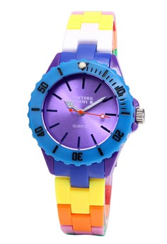 Newyork Army Women's Purple Dial Muliticolor Strap Watch NYA104