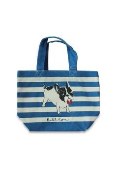 Bullton Dog Border Mini Lunch Tote Bag