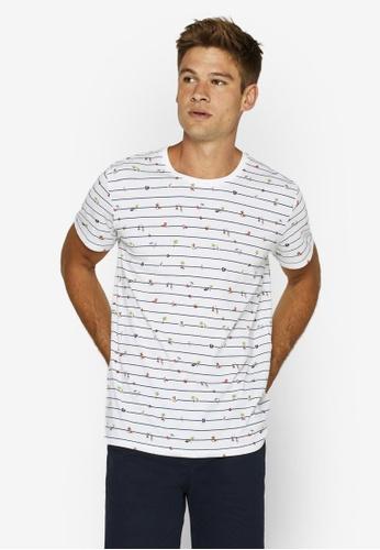 ESPRIT 白色 Summer Print Jersey T-襯衫 F33B4AAAA8E0DAGS_1