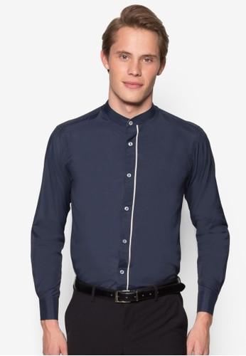 中式領esprit高雄門市長袖襯衫, 服飾, 服飾