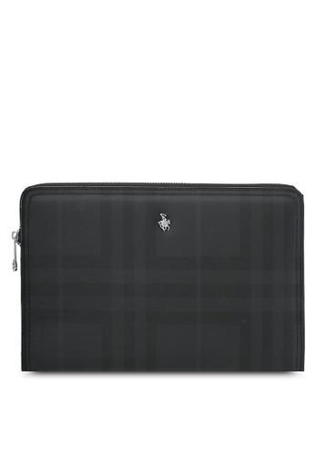 Swiss Polo black Swiss Polo Clutch Bag SW912AC0SMBDMY_1