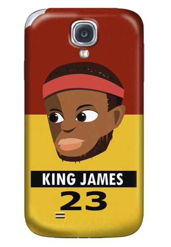 Wonder Cover black and brown and red and yellow and gold King James Matte Hard Case for Samsung Galaxy S4 WO617AC82AIVPH_1