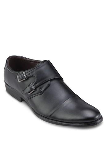 雙扣環尖頭商務皮鞋esprit香港門市, 鞋, 皮鞋