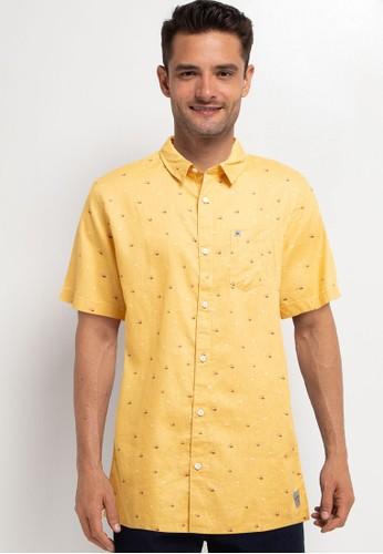 Quiksilver yellow Desert Bush Shirt 5BB78AA28BEACFGS_1