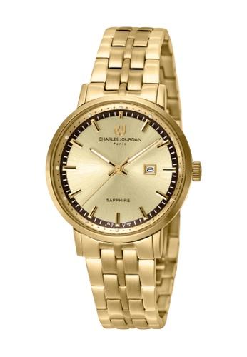 Charles Jourdan gold Charles Jourdan Women CJ1050-2222 Gold Stainless Steel Watch CF860ACC40C7B9GS_1