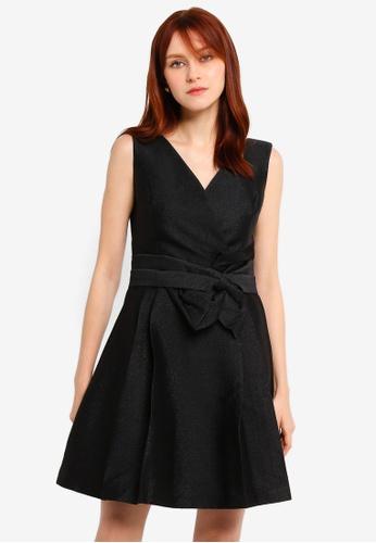 Hopeshow black V-Neck Sleeveless Mini Dress B690CAACF7D0C8GS_1