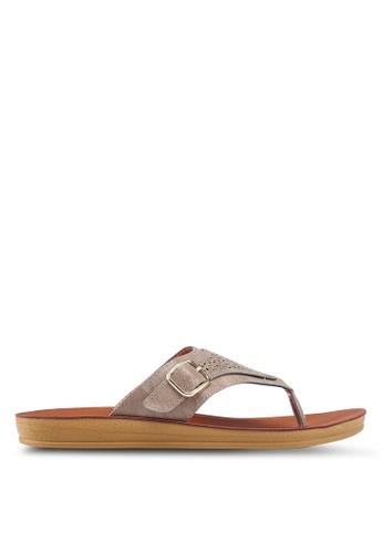 NOVENI 灰色 Casual Sandals 4B9A5SH7B6BC85GS_1