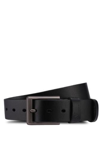 RAV Design black 35MM Leather Belt 982ABAC07003FEGS_1