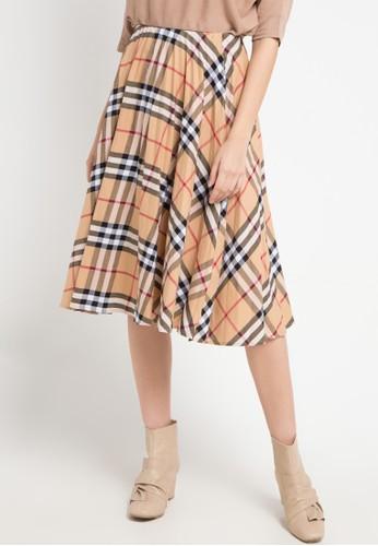 Uptown Girl brown Pleated Skirt 2FA18AA73931BBGS_1