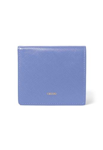 Crudo Leather Craft purple Lucidato Compact Wallet - Saffiano Mauve 7B443AC064E43CGS_1