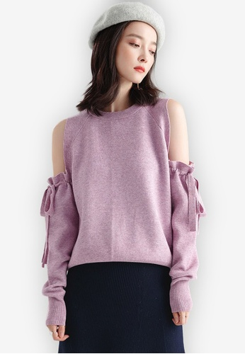 97a13a39fb7c7 Shop Sunnydaysweety F W Cold Shoulder Top Online on ZALORA Philippines