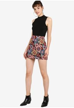 1a5fb169332 Something Borrowed Jacquard A-Line Skirt S$ 39.90. Sizes XS S M L XL