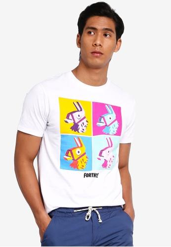 OVS 白色 Psychedelic Fortnite Llamas T恤 30951AAECCE2A1GS_1