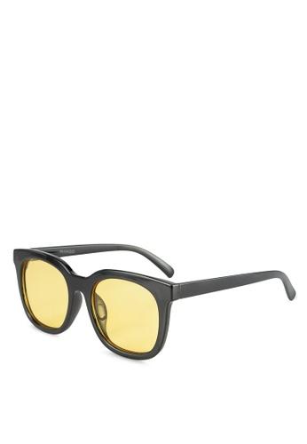 Mango yellow Acetate Frame Sunglasses 12BAAGL6192F0DGS_1