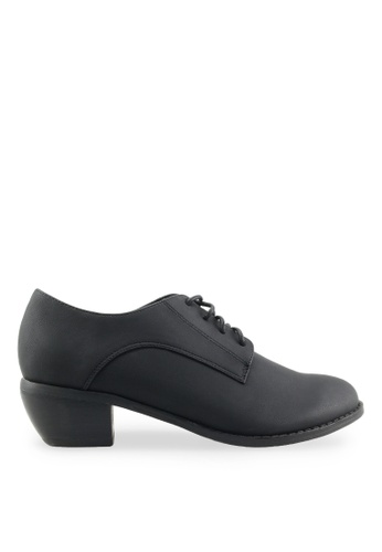 Footspot black FOOTSPOT - Minimal Lace-up Oxford Shoes FO296SH2VLLWHK_1