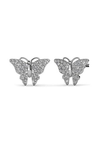 ADORA silver Swarovski Butterfly Earrings 1A24AAC7F5158EGS_1