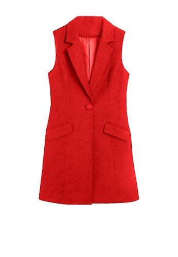 Twenty Eight Shoes red VANSA Suit Long Vest  VCW-V8180 F39FCAA5A09230GS_1